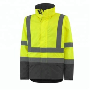 Fluorescent Workwear Uniform Jacket/ With Reflective Stripes and Fleece lining/Flame Retardant