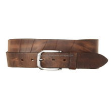 Handmade Western Braid Genuine Leather Belts Boned Leather Belt For Men