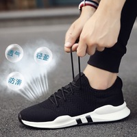 Buy New Brands Summer Flat Black Casual Shoes Sneakers For Men
