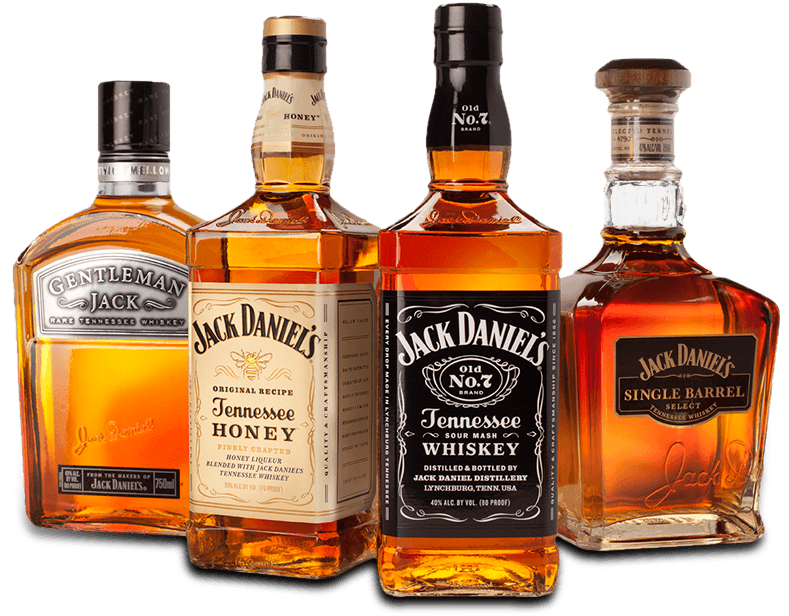 Group of Jack Daniels Whisky