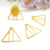 office bookmark plastic coated colorful triangle shape paperclips for stationery