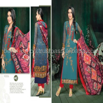 Stylish Looking Indian Winter Women Wear Special Occasion Fashion Designer Straight Suits