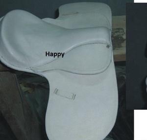 new stylish high quality white pony treeless horse riding saddle