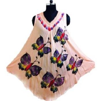 Tye Farbstoff Batik Regenschirm Kleid Beachwear Vertuschung Maxi ...