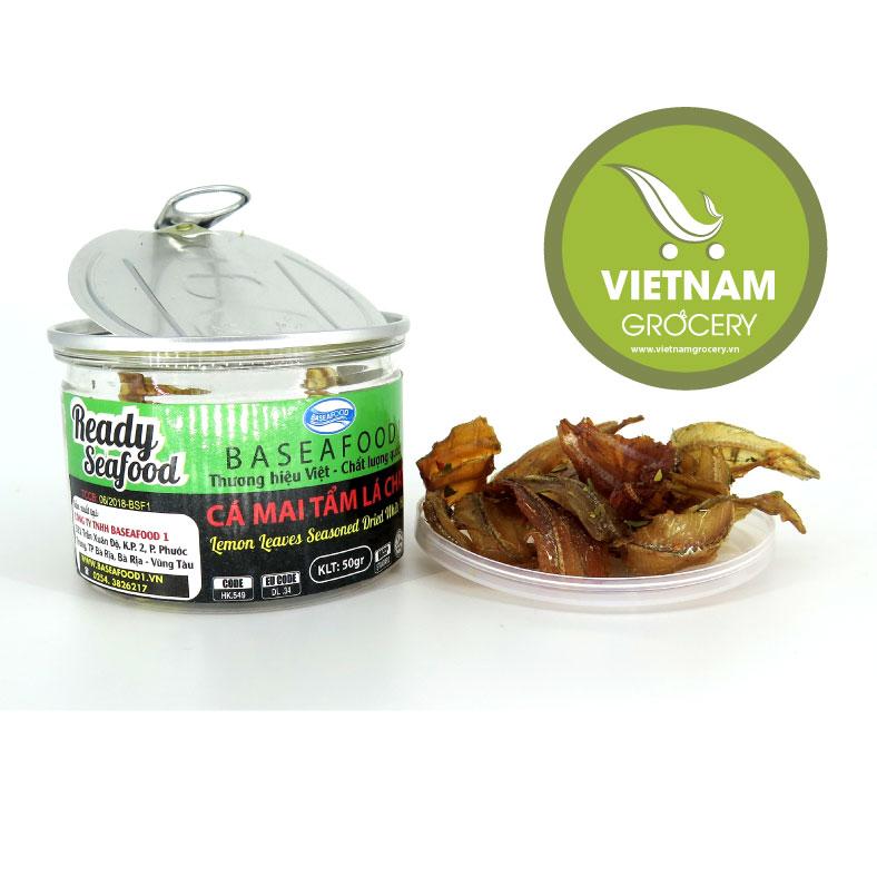 Vietnam High-Quality Lemon Leaves Seasoned Dried With White Sardine 50g