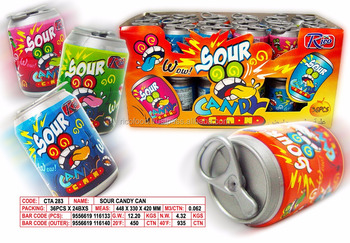 Sour Candy Can With Candy - Buy Toy Candy,Novelty Toy ...