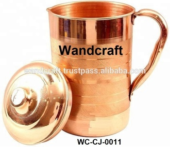 Pure Matte Wandcraft Jug For Quality Jug Mug Water copper Copper High Health Buy Product With BenefitsSemi Finish Lid odBerCx