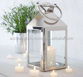 Single Size Lantern for the Table Top Decoration or Wedding Decoration or Floor Decoration in Stainless Steel High Quality