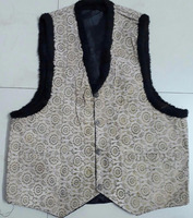Stock Lot Leather Waistcoat with furr Leather Jacket Coat Blazer cheap