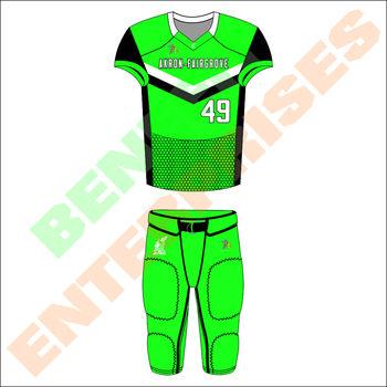 2018 mais recente projeto personalizado uniformes 100% Poliéster sublimação  futebol americano feito ... 5fa913e4e6728