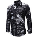 Stylish Fashion Men's Slim Fit Floral Shirt Long Sleeve Dress Shirts Casual Shirts for Men