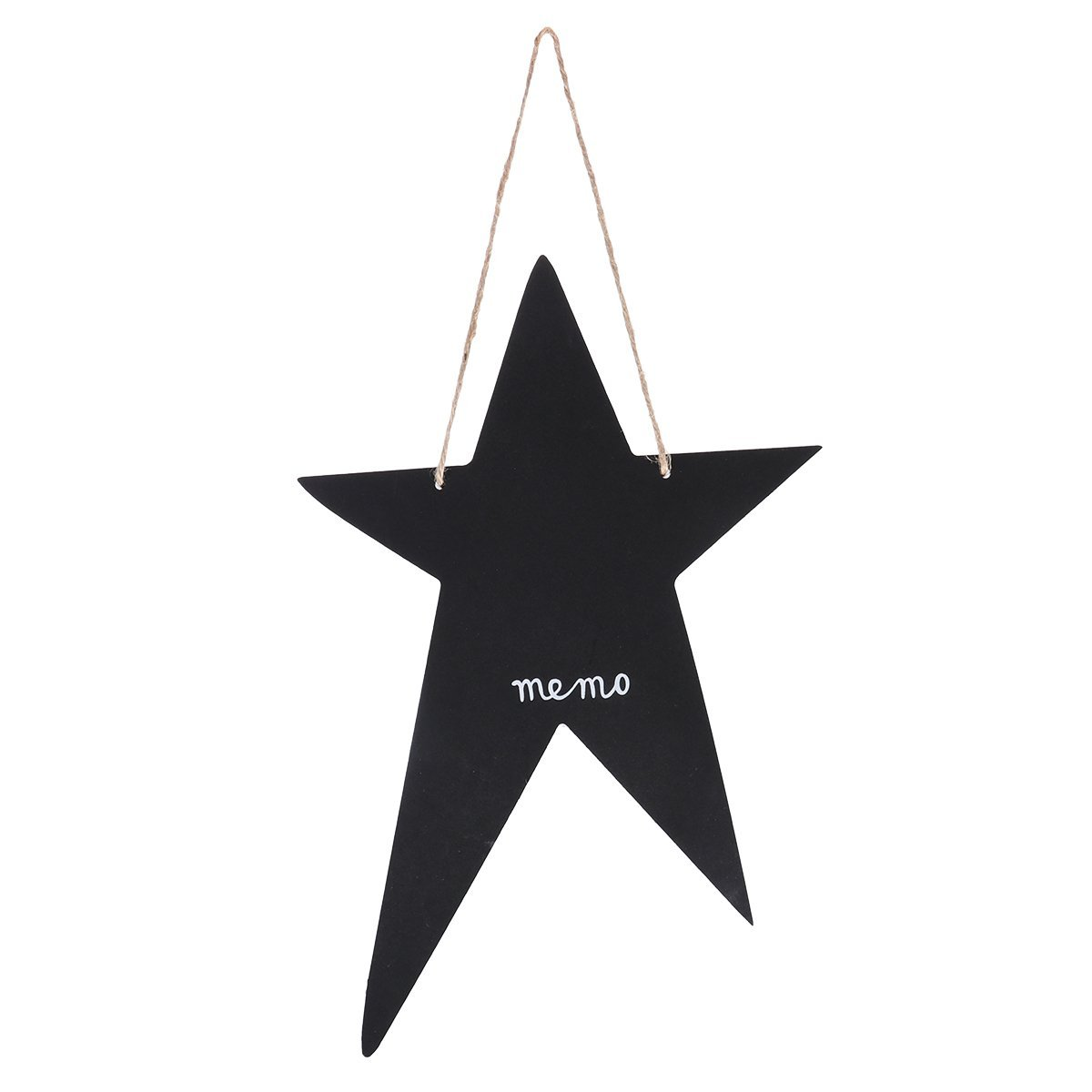 Tinksky Mini Chalkboards Five-pointed Star Shaped Blackboard Message Board Signs Hanging Memo Board Guest Book for Wedding
