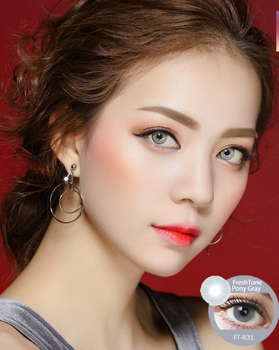 High Quality Cheap Price Freshtone Pony Gray Super Natural Cosmetic Colour  Contact Lens - Buy Glamourous Color Contact Lenses At Low Prices,14 5 Mm