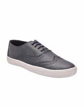 MEN'S BLUE, TAN LACE-UP VERY CHEAP CASUAL SHOES ON