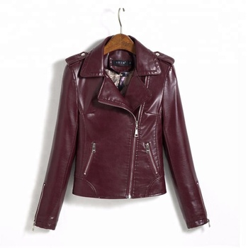 Fancy Lady brown PU Leather Jacket Clothing Manufacturer Wholesale Premium  Winter Fashion Women Leather Jacket with c00c0c2006