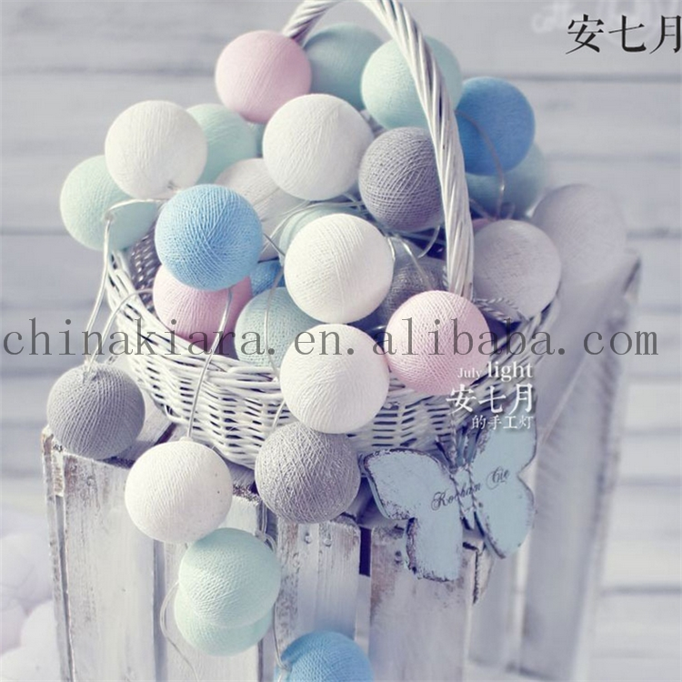 Home Decoration 20Led cotton ball sring light
