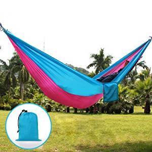 Ultra-light hammock Camping Hammock, Light Nylon Cloth Parachute Multifunctional Light Double Outdoor Camping Hammock, Sleeping Bag, Camping Camping, Beach, Pier, Garden (a4)