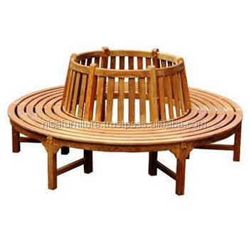 Garden Outdoor Teak Wooden Round Tree Seat chair patio furniture Indonesia