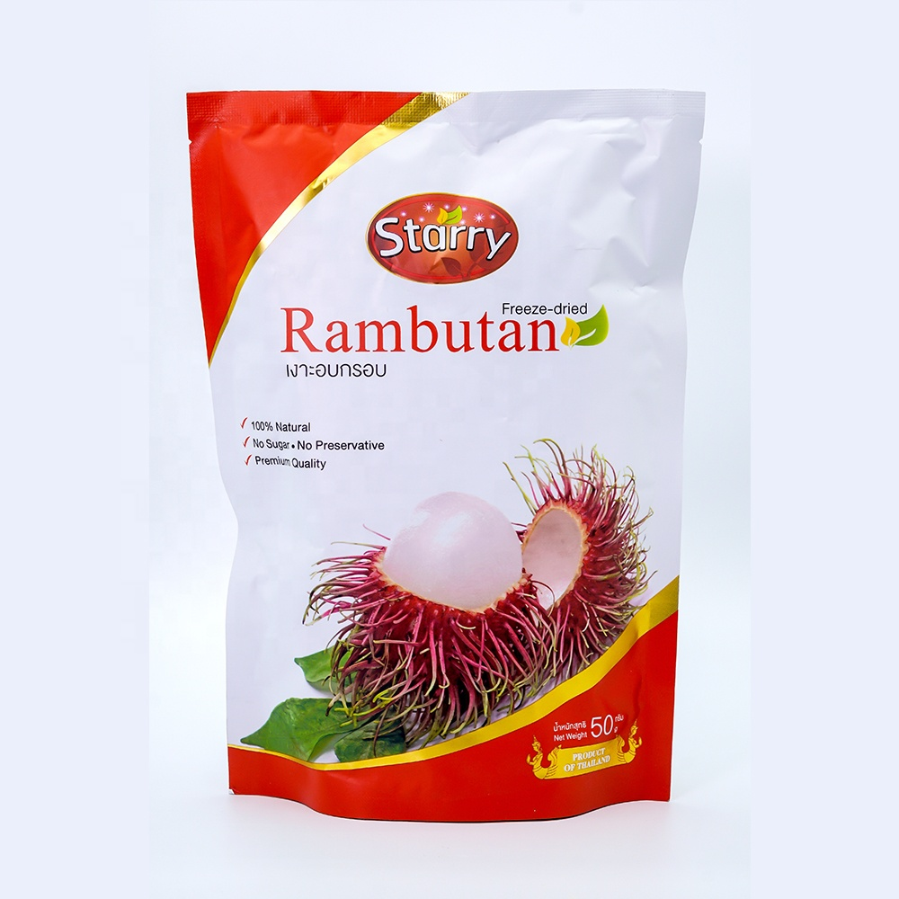 30-g 'Starry' 100% Natural Freeze-dried Fruit Premium Quality Rambutan Thailand