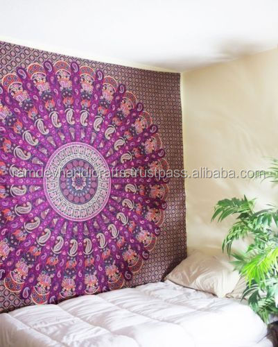 Indian Mandala Tapestry , Indian Tapestry Dorm Wall Hanging, Bohemian Bedspread