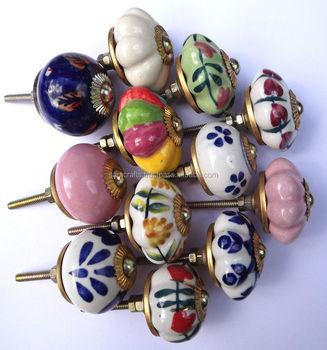 ceramic door decorative colorful knobsfor kitchen cabinet