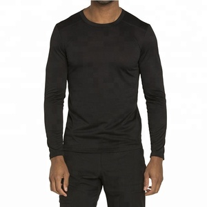 Plain Longline Men Medical Long Sleeve Shirt