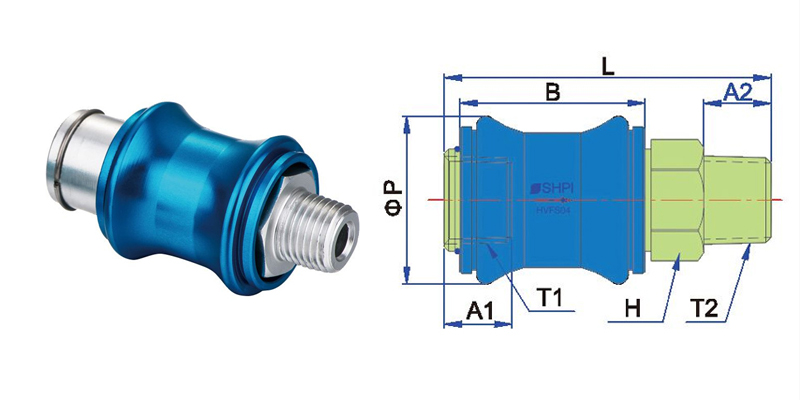 Hand Check Slide Valve Supply HSV-FS, IN Lijn Hand Schuifklep, Flow Control Terugslagkleppen
