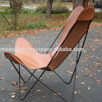 Butterfly Brown Leather Chair