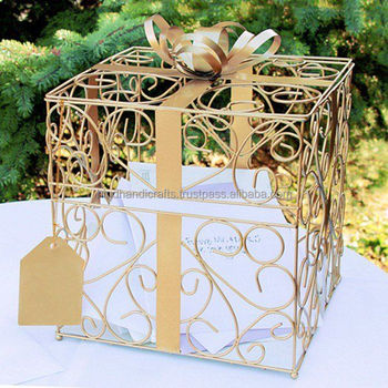 Card Box Wedding.Iron Wire Wedding Card Box Buy Decorative Card Boxes Wedding Invitation Card Box White Card Box Product On Alibaba Com