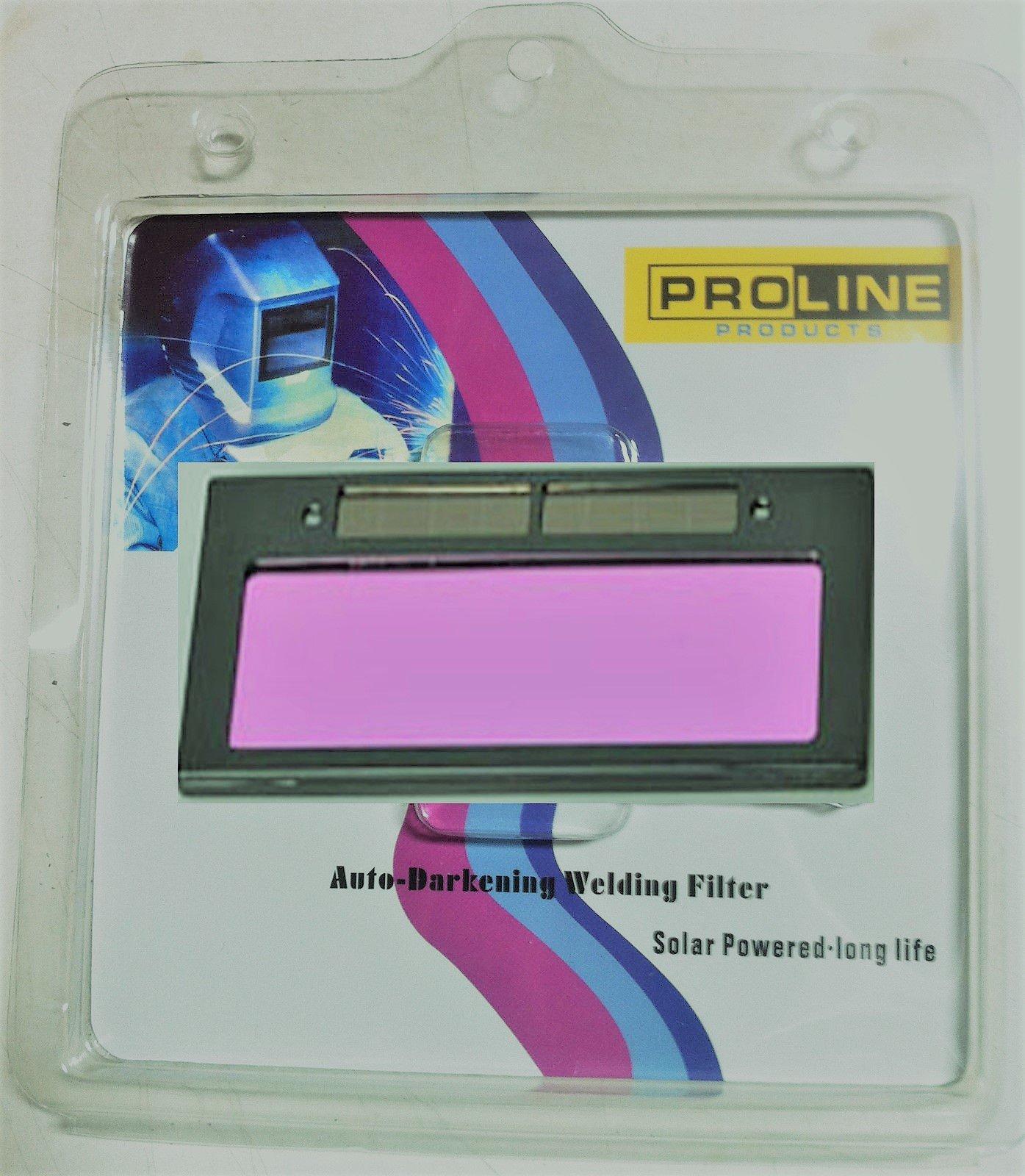 """Proline Products DIN#9 Size 4-1/4"""" X 2"""" Auto Darkening Welding Lens Filter Dark DIN #9, Clear #3"""