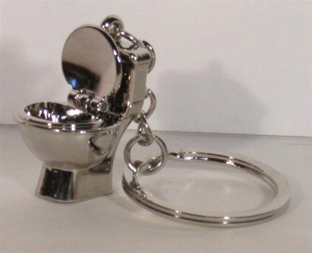 mini toilet stool bathroom key chain ring toilet keychain
