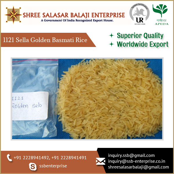 Basmati 1121 Healthy Golden Rice Supplier from India