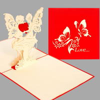 Valentine - Angel Love 3d pop up greeting card handmade card
