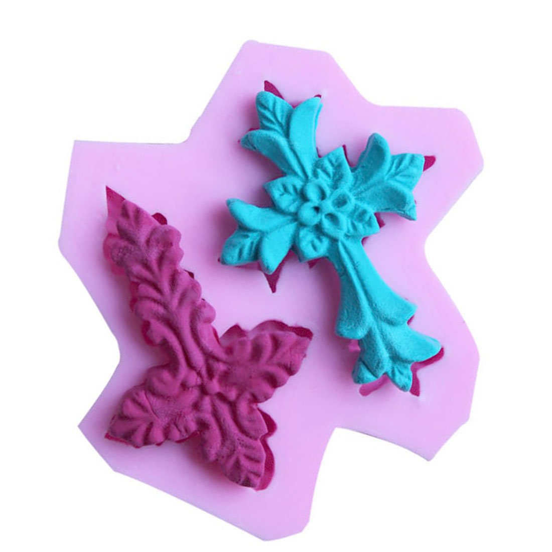 WJSYSHOP Cross Shape Silicone Fondant Mold Cake Decorating Chocolate Baking Mould – Cross