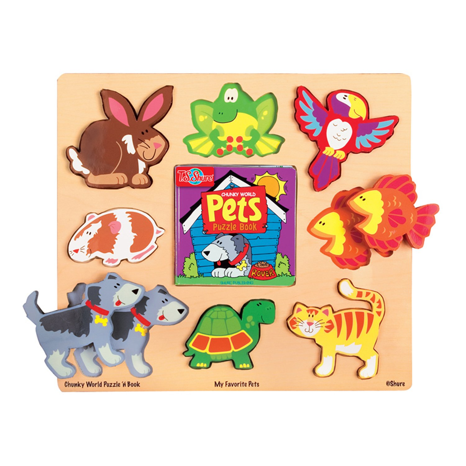 T.S. Shure Chunky World My Favorite Pets Puzzle & Book