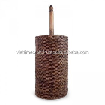 Bathroom Accessories Made From Vietnam Rattan Brown Toilet Roll Holder