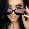 X7713 Trendy High Quality Oversized Mirror Shades Luxury Brand Designer Cateye Sunglasses 2019