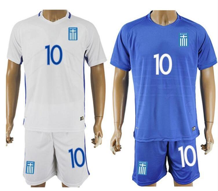 Football Kit 2018 Greece Soccer Jerseys Soccer Uniforms Football Sports Wear Soccer jersey sets customised name and numbers