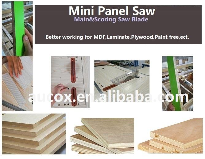 Small Size Sliding Table Saw Cutting Machine Panel Saw Mj09