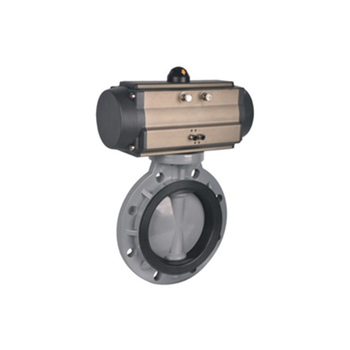 8 Inch Plastic FRPP PPH PVDF CPVC UPVC PVC Pneumatic Actuator Butterfly Valve With Pneumatic Actuator