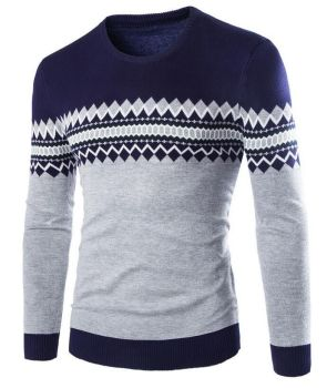 235c35cc6 Daimond stitch exclusive design yarn dyed 100% cotton mens sweater