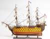 HMS Victory Painted (L80) - Handmade wooden ship model