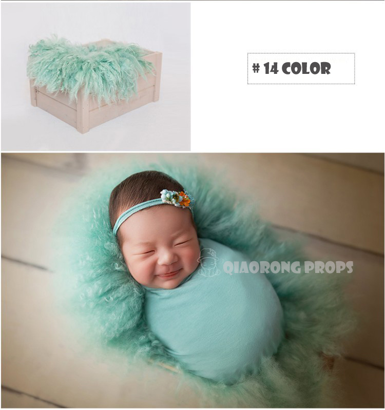 baby photo props Newborn Baby Children Flokati Wool Rug Photo Props for Basket Filler,bean bag covering, floor covering