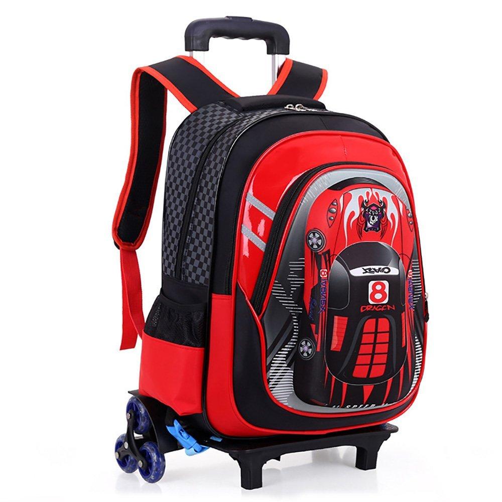 a6e93f59268c Get Quotations · SINSHIN 3D Racing Car Shape School Bags with Wheels