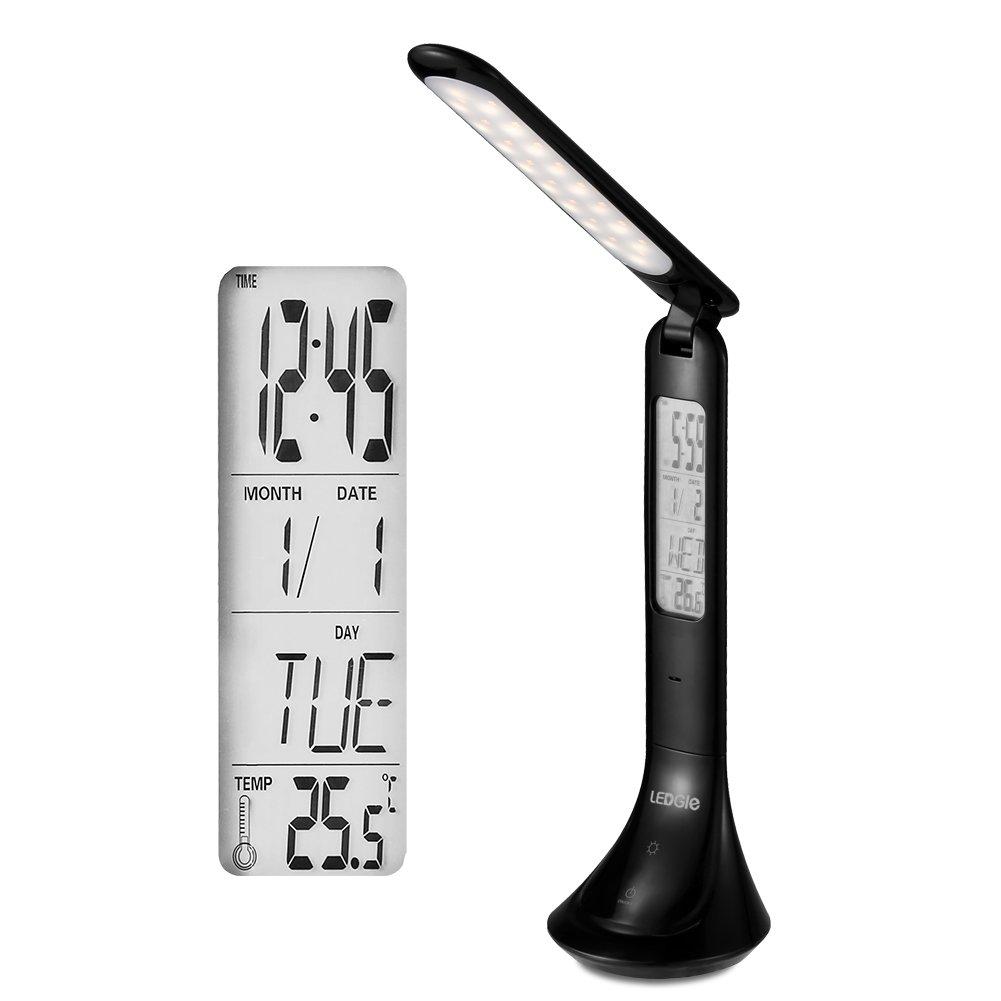 LEDGLE 4W LED Table Lamp Foldable Reading Lights Sensitive Touch Control Desk Lamp, 3 Color Temperature, 3750-4250K Color Temperature, Rotatable Design, Large LED Panel, Black