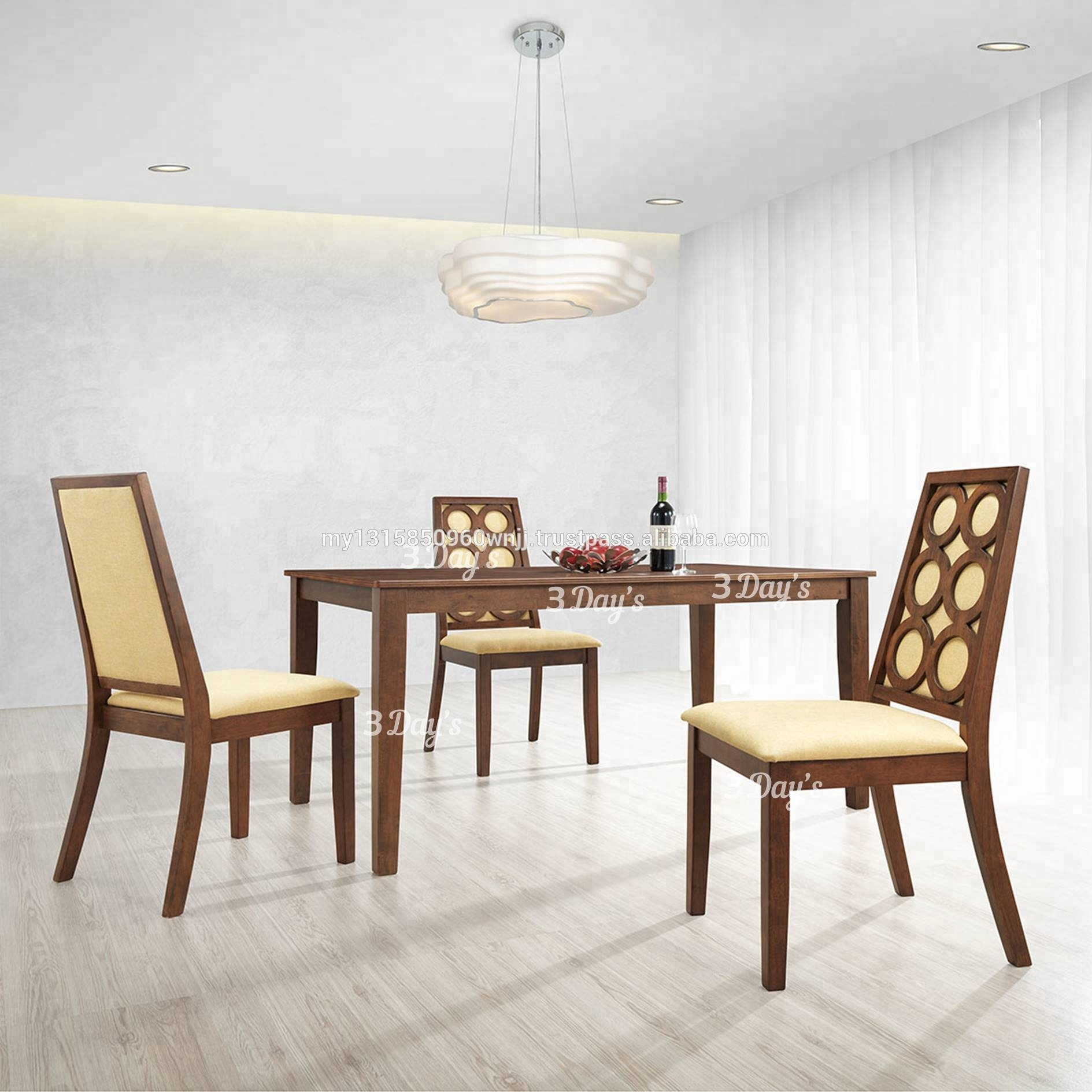Modern Wooden Dining Room Set With Dining Table And Fabric Dining Chair Buy Dining Room Setsdining Table Setclassic Dining Room Sets Product On