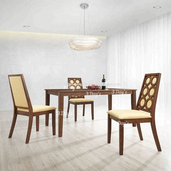Modern Wooden Dining Room Set With Dining Table And Fabric Dining Chair -  Buy Dining Room Sets,Dining Table Set,Classic Dining Room Sets Product on  ...