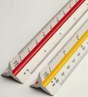 6 Inch Hollow Triangular Architect Drafting Scale Drafting Ruler