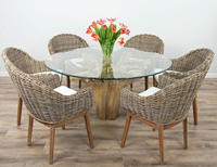 IN STOCK Reclaimed Teak Root Dining Table Set With 6 Chairs