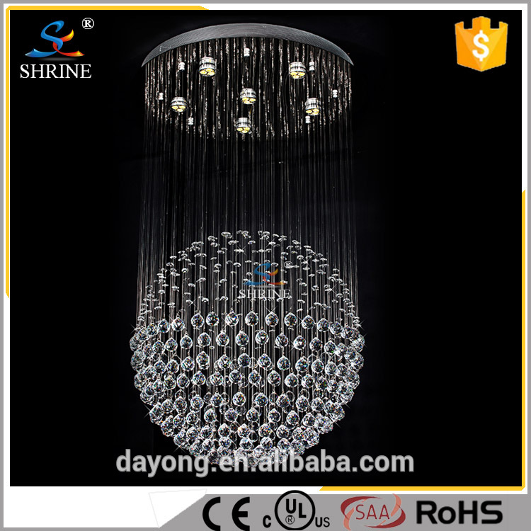 Modern Hanging Acrylic Wall Chandelier Suspended for Living Room Home Decoration